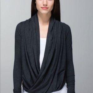 Lululemon gray iconic wrap sweater size 2